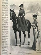 MODE ILLUSTREE SEWING PATTERN March 3 ,1901 SIDE SADDLE COSTUME, dress, coat...