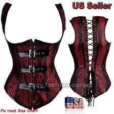 Women Steampunk Gothic Body Shaper Underbust Corset Bustier Burlesque Size S-2XL