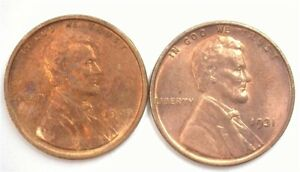 1909 & 1931 LINCOLN CENT CHOICE / GEM UNCIRCULATED SCARCE IN BRILLIANT UNC