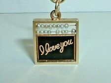 VINTAGE 14k YELLOW GOLD CHINESE ABACUS I LOVE YOU CHALKBOARD WALTER LAMPL CHARM