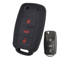 Silicone Car Key Remote Cover Case Fob For VW Golf Polo Skoda Seat Leon Ibiza