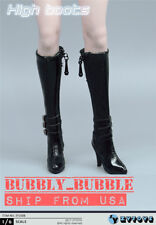 "1/6 Female Over The Knee High Heel Boots A For 12"" PHICEN Figure SHIP FROM USA"