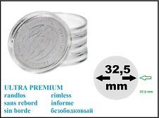 100 Münzkapseln 32,5 mm  PP ULTRA PREMIUM Randlos Glasklar Für PORTTOFREI in D