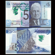 Scotland 5 pounds, 2015, P-369 New, Polymer note, UNC>Clydesdale Bank