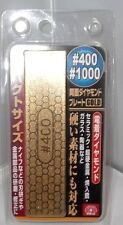 Japanese SK-11 Diamond Plate Gold whetstone sharpening stone #400/1000 JAPAN