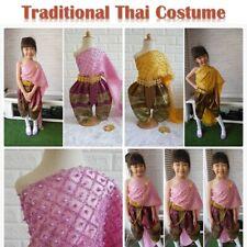 Traditional Thai Kids Costume Girls Thai Dance Party School Wedding Occasions
