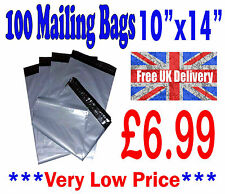 """100 Mailing Bags 10""""x14"""" Strong Grey Plastic Postage Postal Poly Post CHEAP!!!"""