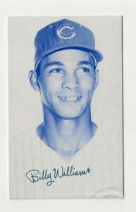 Billy Williams 1980 blue exhibit card / Chicago Cubs