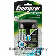Energizer Pro Charger (CHPROWB4) with 4 Rechargeable AA NiMH Batteries 2000 mAh