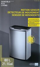 Sensible Eco Living 80L Hands-Free Motion Sensor Hygienic Kitchen Waste Bin NEW