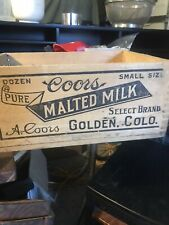 Vintage Coors Golden Co Malted Milk Box Crate - hard to find