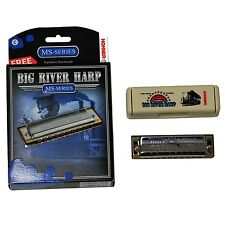 Hohner Big River Harp. key of C comes in a case Plus In a gift box MS series