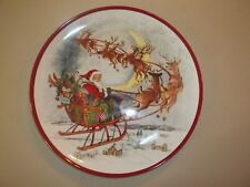 Pottery Barn  Nostalgic Santa Dinner REPLACEMENT Plate Melamine #1410