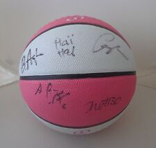 LA Los Angeles Sparks 2017 team signed Pink WNBA basketball Candace Parker
