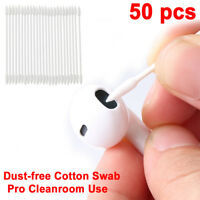 50pcs Cotton Disposable Stick Cleaning Swab Tool For AirPods Earphone