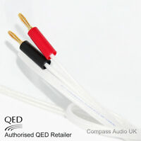 2 x 1m QED Silver Anniversary XT Speaker Cable Terminated Gold 4mm Banana Plugs
