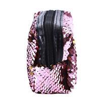 Sparkling Zipper Storage Case Pouch Box Glitter Sequins Makeup Bag Purse Q