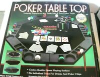 Poker Table Top with 200 Cards & WPT Chip Set