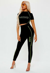 Playboy First Production Line Motorcross Leggings And Crop Top Gym And Casual 👄