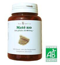 Maté BIO - 100 gélules de 400 mg Biologique - Circulatoire Drainant Perte poids