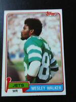 Wesley Walker-1981 Topps Football-nrmint/7-no.118-Jets