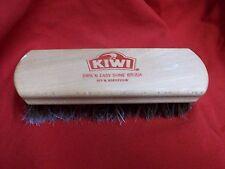 Kiwi 100% Horsehair Shine Brush just over 6 inch handle  1-b-3
