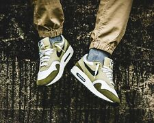 BNWB & Authentic Nike ® Air Max 1 Trainers in Medium Olive / Sequoia UK Size 9