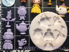 Princess Belle Beauty and Beast silicone mold fondant Gumpaste, resin, Clay..