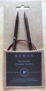 Rowan Birchwood 80cm Long Circular Knitting Needles - Various Sizes