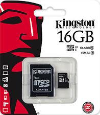 KINGSTON MICRO SD 16GB CLASSE 10 CLASS MICROSD SDHC SCHEDA DI MEMORIA CARD