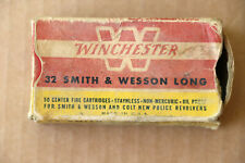Winchester .32 Smith & Wesson Long Cartridges Empty Box