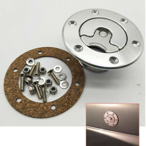 Aircraft Style Fuel Cell Gas Cap Flush Mount With 6 Hole Anodized Universal