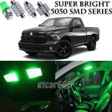 For Dodge Ram 1500 2500 3500 2009-2016 Green LED Interior + License Light Kit 8X