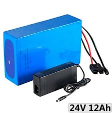 Lithium Ion Li-ion Battery 24V 12Ah Rechargeable Electric E Bike Diy Pack Solar