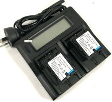LCD Charger +2x Battery for Panasonic VW-VBN130 HDC-HS900 HDC-SD800 SD900 TM900