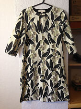 Ann Louise Roswald designer ivory & black/beige long tunic top 8