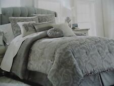 New Waterford Montgomery Platinum Silver King Comforter Set