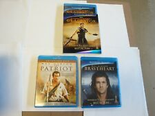 Gladiator / Braveheart & The Patriot *Like New* (Blu-Ray 5-Disc Set )