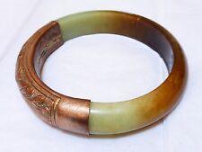 "Chinese Antique Very Large Jade Bangle, 2.75"" inside diameter"