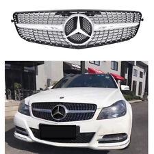 Mercedes Benz C-CLASS W204 Diamond Front Grille For C180 C200 C300 08-14