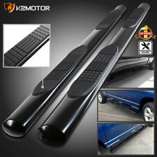 "Black 2009-2018 Ram 1500 Crew Cab 4"" Oval Running Boards Nerf Side Step Bars SS"