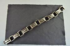 modernes Armband Silber 835 punziert, 1970 er Hammerschlag Design formschön!