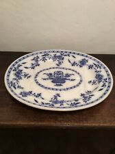Antique Mintons Delft Huge Meat / Turkey Plate / Platter Over 21 Inches Long