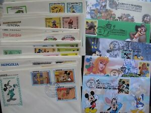 lot of 75+ Walt Disney Cartoons First Day Covers -Mickey Mouse Donald Duck FDC
