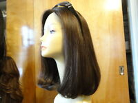 """Malky Sheitel Human Hair Wig Medium Brown color 10-6 New Malky 100% Kosher 16"""""""