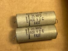 Pair Vintage Fast .25 uf 400v Pio Capacitors 1950s Oil Tube Amp Tone Caps Tested