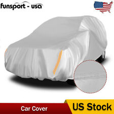17ft Full Universal Suv Fit Car Cover Outdoor Uv Sun Rain Dust Protector Silver Fits Jeep