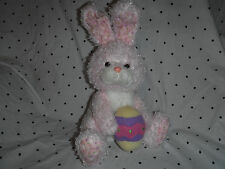 """Ty 2005 Pink Easter Bunny Egg Vintage 15"""" Plush Soft Toy Stuffed Animal"""