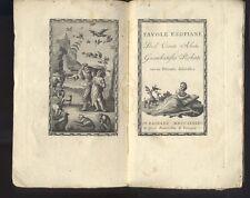 Conte Abate Giambatista Roberti   Favole Esopiane  Remondini 1795  R