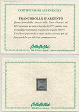 OLANDA - 2001 Francobollo d'argento singolo + busta primo giorno (1)